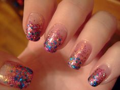 Such pretty glitter! And with the added speciality of a gradient effect.