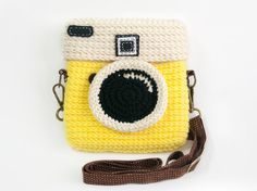 Crochet Diana Yellow Glow Purse Size 6 inch by meemanan on Etsy, $28.00