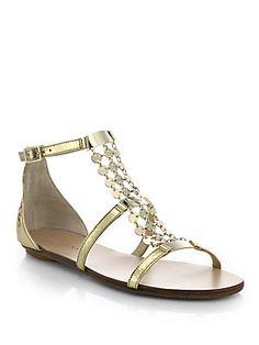 4715cc7b44a Jimmy Choo - Metal Paillette Metallic Leather Sandals