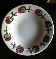 Han painted thistle plate #azarraluqui