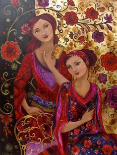 Loetitia Pillault (French 1968) : Mother and Daughter