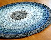 háčkovaný kobereček z triček