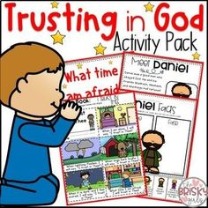 Trusting in God When I am Afraid-AND-Daniel and the Lions Den- This Bible Lessons for Kids pack includes a read aloud on Daniel along with story element pictures for making your own flannelgraph pieces Toddler Bible Lessons, Preschool Bible Lessons, Bible Activities For Kids, Bible Stories For Kids, Bible For Kids, Preschool Activities, Daniel In The Bible, Daniel And The Lions, Bible Heroes