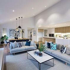 A modern Australian home in our Bondi interior. Now on display at Upper Point Cook estate, Point Cook. #Bondi #bondistyle #modern #contemporary #dunedin #displayhome #porterdavis #worldofstyle #colourthedream @cocorepublic