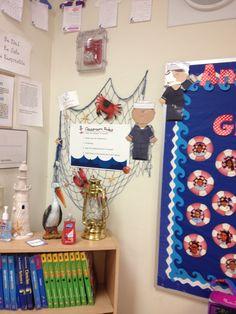 Nautical themed classroom