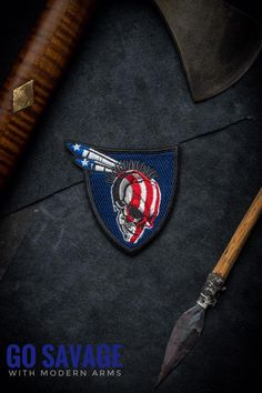 """""""All American Warrior"""" Limited Edition. First released on Jan It rapidly sold out. Funny Patches, Ralph Lauren Brands, Tactical Patches, Morale Patch, Porsche Logo, Red And White, Jan 2017, Nose Art, Cool Stuff"""