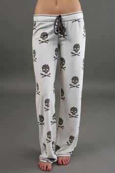 skull pajama pants