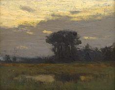 """Sunset Glow,"" Charles Warren Eaton, 1900-10, oil on canvas mounted on board, 8 x 10"", Spanierman Gallery."