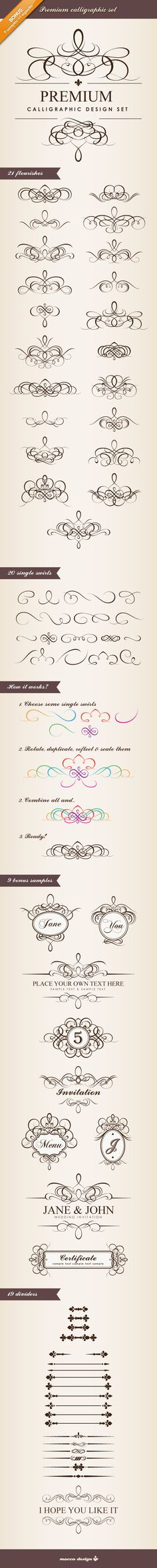 Free Vintage Clip Art Images Calligraphic Frames And