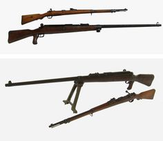 Matching WW1 T-Gewehr Anti-Tank Rifle with 13mm Round.