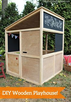 Create your kids something special for spring with this step-by-step tutorial. You can build them their very own indoor or outdoor playhouse!