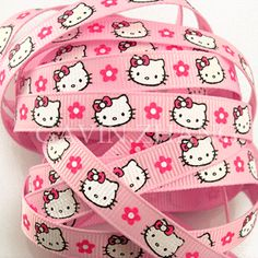 """3/8"""" Hello Kitty Grosgrain Ribbon #266 which I actually have"""