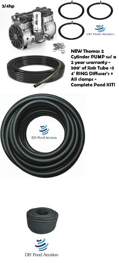 Fish Pond Supplies 134750 Rocking Piston 3 4hp Pond Aerator System With 300 Sinking Hose And 3 4 Diffusers Buy It Now Only Pond Aerator Fish Pond Aerator