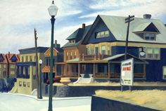 View East Wind Over Weehawken by Edward Hopper on artnet. Browse upcoming and past auction lots by Edward Hopper. Edward Hopper Obras, Edward Hopper Paintings, American Realism, American Artists, Norman Rockwell, Edouard Hopper, Ashcan School, Ideas, Surreal Art