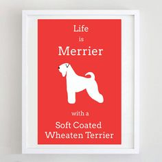 Soft Coated Wheaten Terrier Print Dog Art by ForeverFoxed...we totally own this already. =)