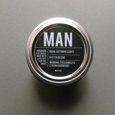 Man Handcrafted 4 oz Soy Candle