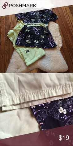 Cherokee scrub outfit Great condition, some fraying at bottom of pants, see pics! Cherokee Tops Tees - Short Sleeve