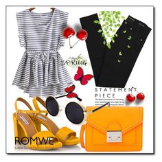 """""""ROMWE"""" by rizvic95 ❤ liked on Polyvore featuring Yves Saint Laurent, Fratelli Karida and Loeffler Randall"""