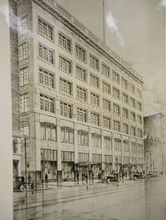 Cleveland's nationally known architectural firm of Walker and Weeks produced this sketch of the new Halle Bros. department store on Euclid Avenue.  The store opened its doors for business in 1927.  The Halle Bros. building is still one of the most beautiful structures in downtown Cleveland.    Image courtesy of the Cleveland Public Library Photograph Collection.