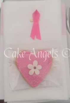 Cake Angels Pink Heart Cookie at the table, ready for some lucky guest to eat ...