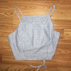 Striped Crop Corset Tank Top NWT! Blue and white striped crop tank top made of linen and cotton. Corset look on back with elastic underneath. Never been worn! Urban Outfitters Tops Crop Tops