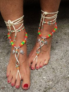Barefoot sandals foot jewelry hippie sandals anklet boho