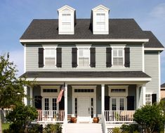 Paint Color Ideas for Colonial Revival Houses | Benjamin moore and ...