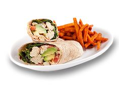 Vegan restaurant in Encinitas, Ca  Native 'Chicken' twister wrap with avocado and sweet potato fries!  We take non-vegan friends here and they don't even know it is vegan!