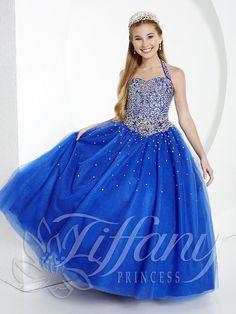 Tiffany Princess 13434 Royal Halter Neckline Pageant Dress