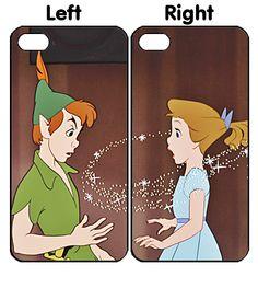 Disney Peter Pan Kissing Couple iPhone 4S 5S 5C 6 6Plus, iPod 4 5, LG G2 G3 Nexus 4 5, Sony Z2 Couple Cases