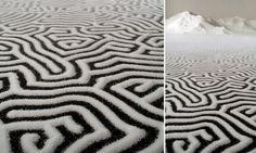 Artista japonês cria labirinto feito de sal