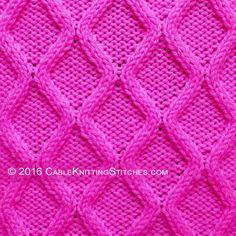 Diamonds Cable knitting