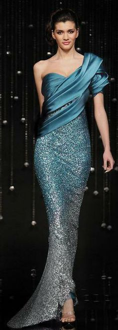 Evening gown, couture, evening dresses, formal and elegant jean fares - SO… Evening Dresses, Prom Dresses, Formal Dresses, Dresses 2014, Beautiful Gowns, Beautiful Outfits, Gorgeous Dress, Gorgeous Gorgeous, Elegant Dresses