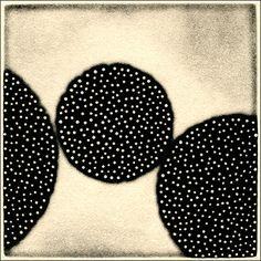 "eunice kim (USA) - Porous #59. Collagraph with chine collé, 4""x4"" (image), 7""x7"" (paper) (2009) [eunice kim on ARTchipel]"