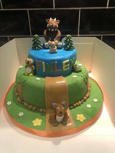 Gruffalo cake tier birthday boy or girl Birthday 1st Birthday Girls, Tiered Cakes, Boy Or Girl, Boys, Desserts, Baby Boys, Tailgate Desserts, Deserts, Dessert