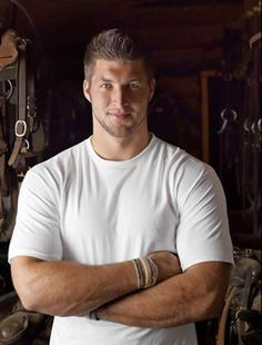 Tebow!!! Let it be known photoshopped or not he is in a tack room!!!! lol