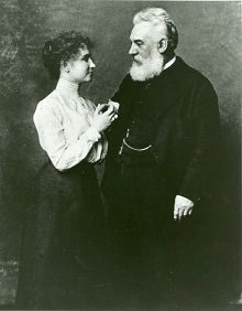 Helen Keller with Alexander Graham Bell