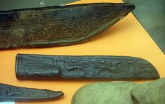 Decorated knife sheaves. A number of Viking artifacts and features have been documented in the excavations at York in England.
