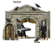 Edgar Allen Poe Gothic Paper Theatre by Raidersofthelostart on Etsy Edgar Allen Poe, Edgar Allan, Theatre Props, Toy Theatre, Gothic Theater, Disney World Map, Makeup Black, Abandoned Amusement Parks, Columbus Ohio
