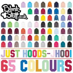 The Just Hoods College Hoodie is Available in 65 Colours and 7 Sizes at Great Prices with Fast Delivery