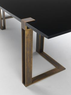 Black and Gold Table by Paolo Castelli Industrial Furniture, Modern Furniture, Home Furniture, Furniture Design, Industrial House, Furniture Layout, Luxury Furniture, Furniture Makeover, Bedroom Furniture