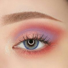 Coral Lavender 💕 What trend should we hit with our spring collection this year? Asian Eye Makeup, Purple Eye Makeup, Eye Makeup Art, Eyeshadow Makeup, Beauty Makeup, Eyeshadows, Exotic Makeup, Fairy Makeup, Mermaid Makeup