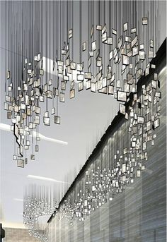 inspiration for you Mirrors Suspension Lighting Ideas - decor inspirations // Unique and iconic lamps interiors architecture interior design art sorsluxe mirrors Sculpture Art, Sculptures, Vitrine Design, Instalation Art, Plafond Design, Hanging Photos, Hanging Art, Hanging Mirrors, Mirror Art