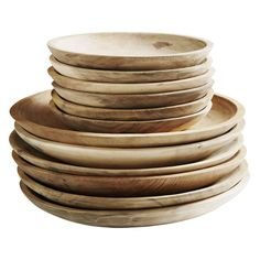 Muubs - Tallerken Ø 18 cm ( Recycled teakwood) - gratis fragt