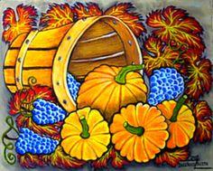 Őszi csendélet - Virágok, olajfestmények