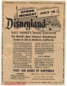 129 best disneyland 1950s 60s images on pinterest disney stuff disneyland grand opening poster opened disneyland resort in anaheim california opened in july 1955 freerunsca Choice Image