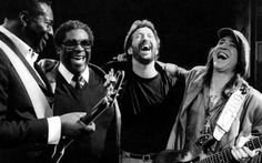 Albert King, BB, Eric and Stevie Ray :) They are all so happy; I wonder what they were laughing about.