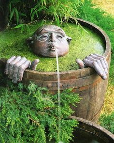 Whimsical garden fountain