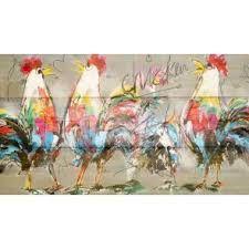 Afbeeldingsresultaat voor kip op steigerhout schilderen