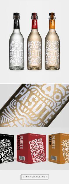 Pasote Tequila Pasote Tequila packaging design by Swig – www. Types Of Packaging, Beer Packaging, Beverage Packaging, Beer Label Design, Wine Logo, Branding Design, Corporate Branding, Logo Branding, Brand Identity